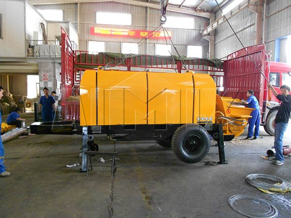HBT40 electric ready mix concrete pump