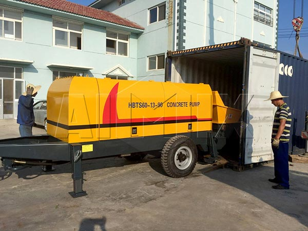 Diesel concrete pump delivery to Vietnam