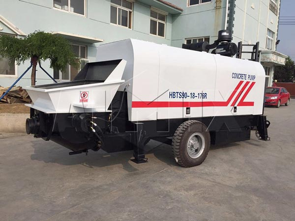 Mobile Concrete Pump Electric Type And Diesel Type For