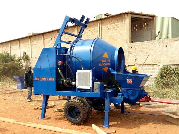 JBS30-JZC350 electric concrete mixer pump