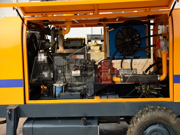 diesel engine of mobile concrete pump