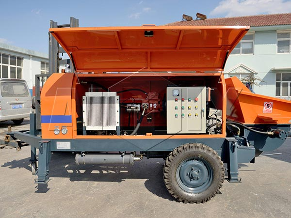 electric ready mix concrete pump