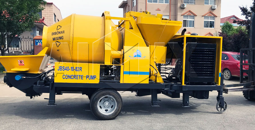 Aimix JBS40R Diesel Concrete Mixer Pump Has Been Exported To Philippines