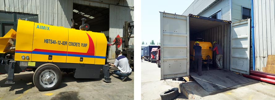 HBTS40-12-82R Diesel Concrete Pump Has Been Delivered to Tanzania
