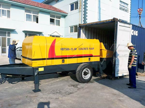 ABT60C diesel concrete trailer pump