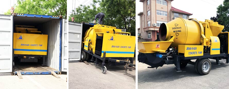diesel concrete trailer pump was delivered to Vietnam