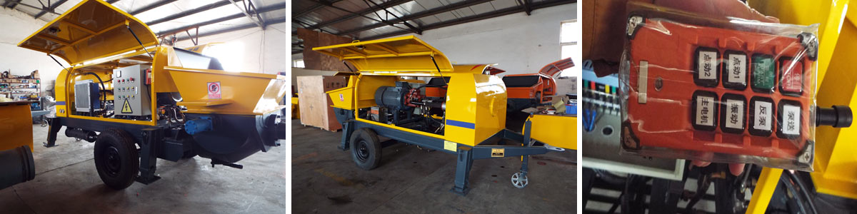 Aimix Ready Mix Pump Manufactured With Advanced Technology In Factory