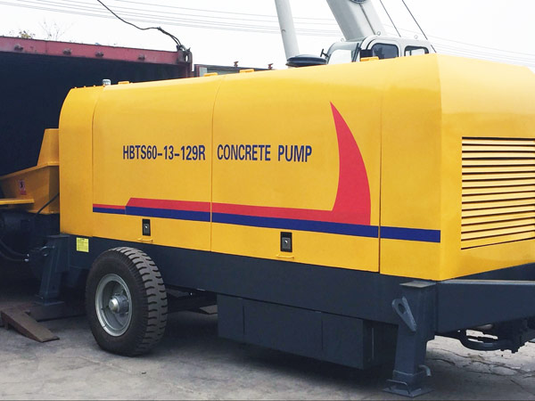 Concrete Pump Portable Delivered to Uzbekistan