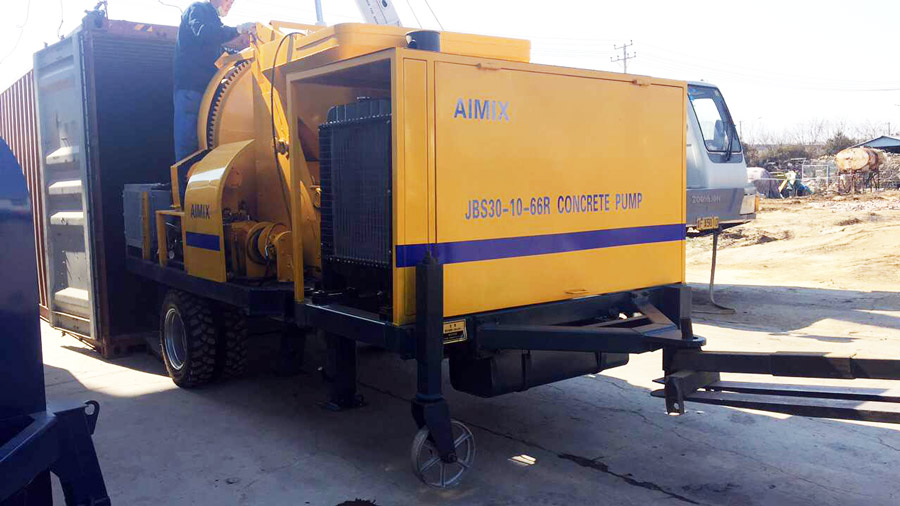 packaging concrete mixer pump
