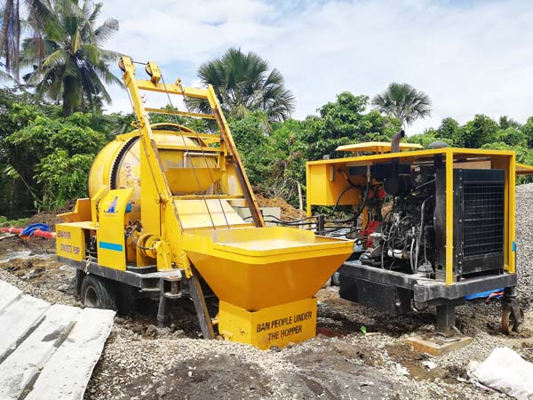 ABJZ40C Diesel Concrete Mixer Pump in The Philpipines