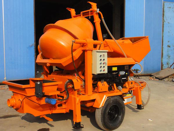 diesel portable concrete mixer with pump machine