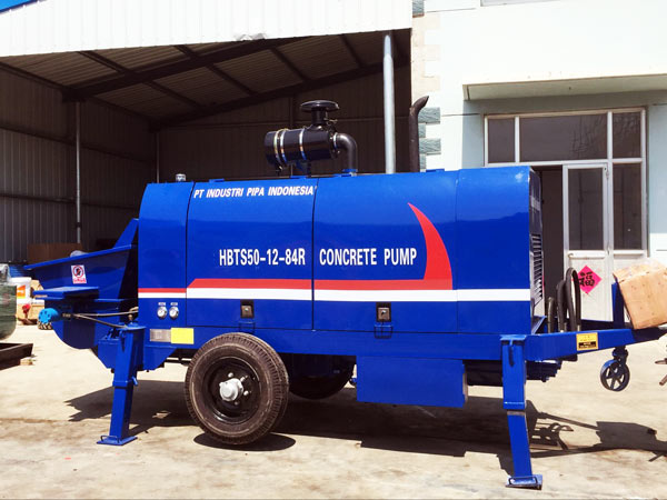 trailer concrete pump