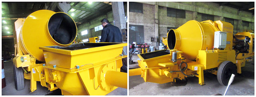 delivery diesel concrete mixer pump to colombia