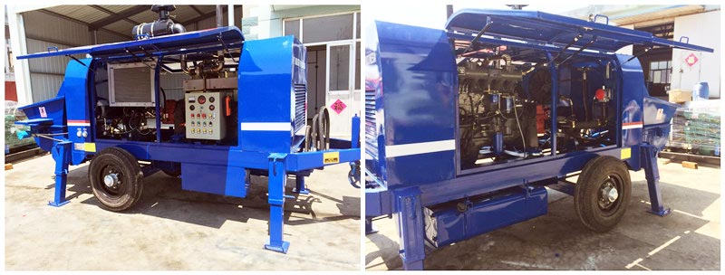 inner of diesel concrete pump