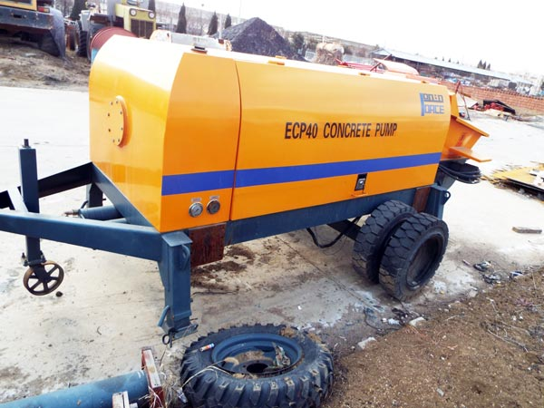 trailer concrete pump in Aimix factory