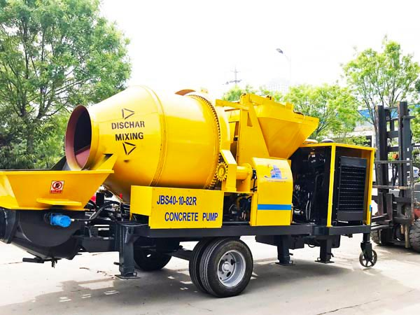 JB40R-JZC350 concrete pump with mixer
