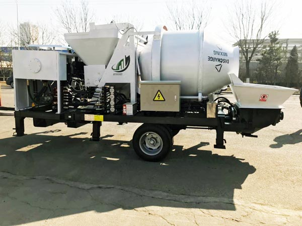 diesel concrete mixer with pump