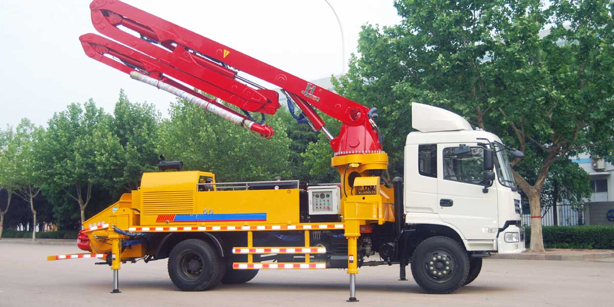 concrete truck pump