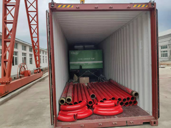 Delivery of Portable Concrete Pump to Philippines