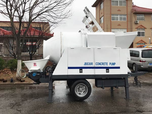 ABJZ30C Diesel Portable Concrete Mixer with Pump