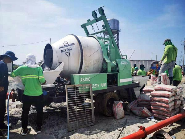 ABJZ40C Mixer Pump Working in The Philippines