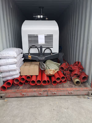 packing concrete pump