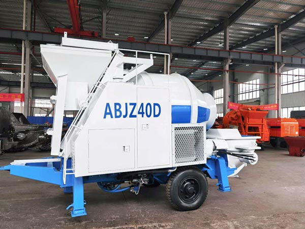 ABJZ40D electric portable concrete mixer pumpABJZ40D electric portable concrete mixer pump
